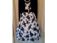 Hearts and Roses swing dress size 20 with bolero and belt.