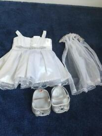 Build a bear wedding dress veil & shoes
