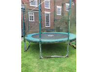 10ft round tp trampoline with safety netting