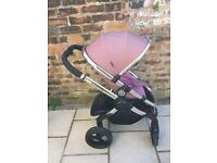 Icandy peach stroller with extras marshmallow