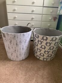 Large toy boxes grey and white