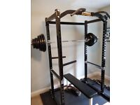 Weights Equipment - Power Rack and Olympic Weight Set