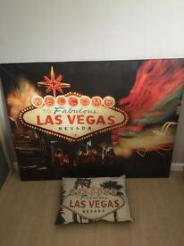 Las Vegas large picture and cushion