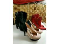 3 pair of shoes size 3