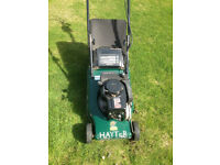 "Hayter Harrier 41 self propelled, 16"" roller drive lawn mower"