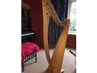 Salvi Prima 38 harp in natural oak