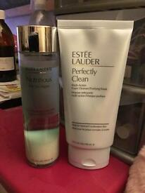 ESTEE LAUDER CLEANSER & TONER-INC x6 FREE E.L ITEMS & MAKE UP BAG!!!