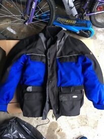 RIOSSI- waterproof, breathable textile motorcycle jacket size L