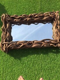 Large heavy wood frame mirror