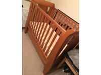 Tutti Bambini Kate Sleigh Mini Cot Bed & Mattress