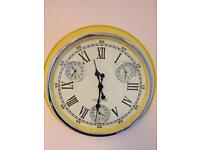 Fabulous Large Yellow Wall Clock Brand New