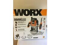 Worx Variable Speed/ 55mm Plunge 1500w Router