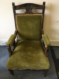 Mahogany Chair, in need of TLC, a lovely piece of furniture