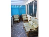 Lovely cane conservatory furniture set