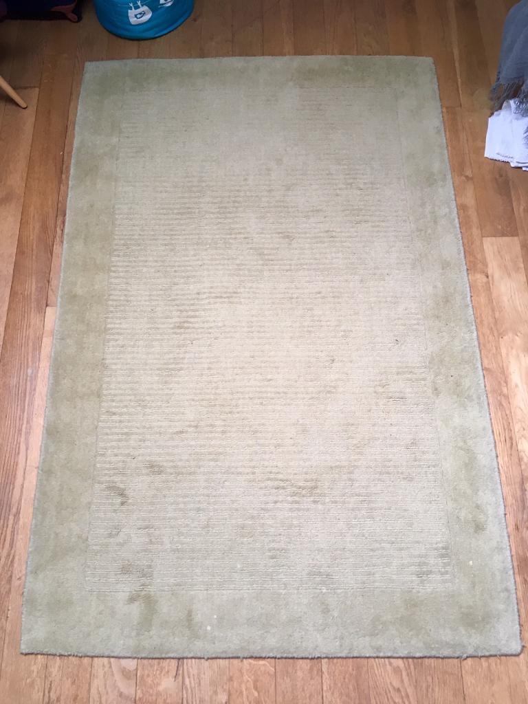 John Lewis Perth Rug 100 Wool In Citrine Lime