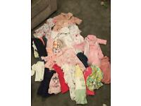 Large baby girl bundle 0-3 months