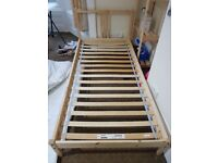 Ikea wooden single bed frame £5