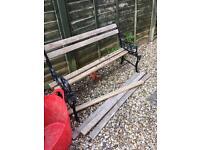 Cast Iron Garden bench - for restoration