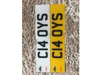 Private number plate for all Spurs Fans