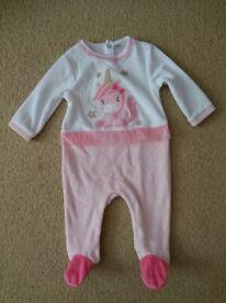 All in one sleepsuit fleece onesie tutu unicorn