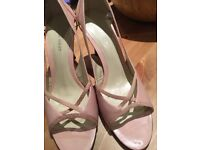 Nine West pink open toe shoes size 9