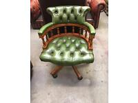 Chesterfield Green Captains Chair