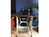 Antique 1888 Singer Sewing Machine Table