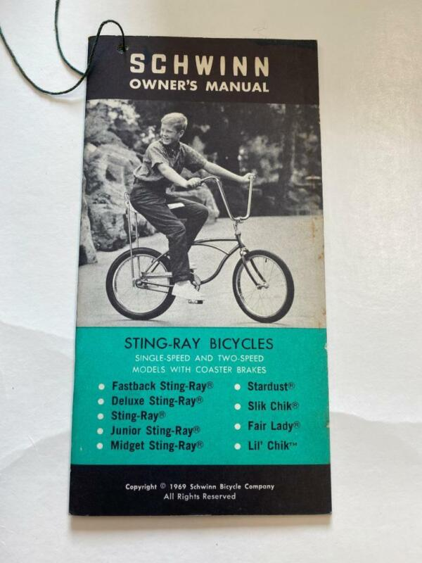 1969 Schwinn Bicycles STING-RAY Bicycle OWNERS MANUAL