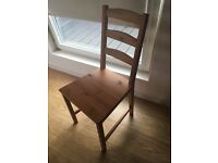 4 Ikea Jokkmokk Antique Stain Chairs for sale