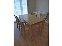 Dinning room/kitchen table with 4 matching chairs
