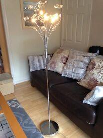 Sputnik silver ad crystal floor lamp