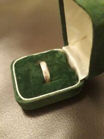 Certified 8 Diamond Platinum Ladies Wedding Ring