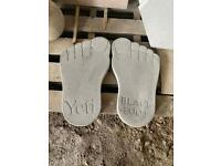 Large Concrete/ Stone Big Foot Ornament/ Stepping Stone ~ New