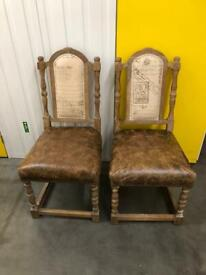 Baker and stonehouse chairs x2