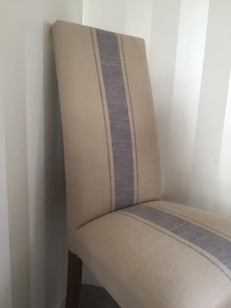 2 beautiful high backed next chairs barely been sat on