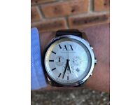 Brown leather Armani exchange watch
