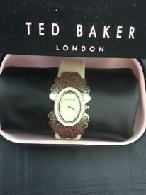 Genuine Ted Baker stunning, leather strap watch, never been worn,