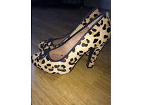 3 pairs heels! Topshop & Little Mistress Size 4
