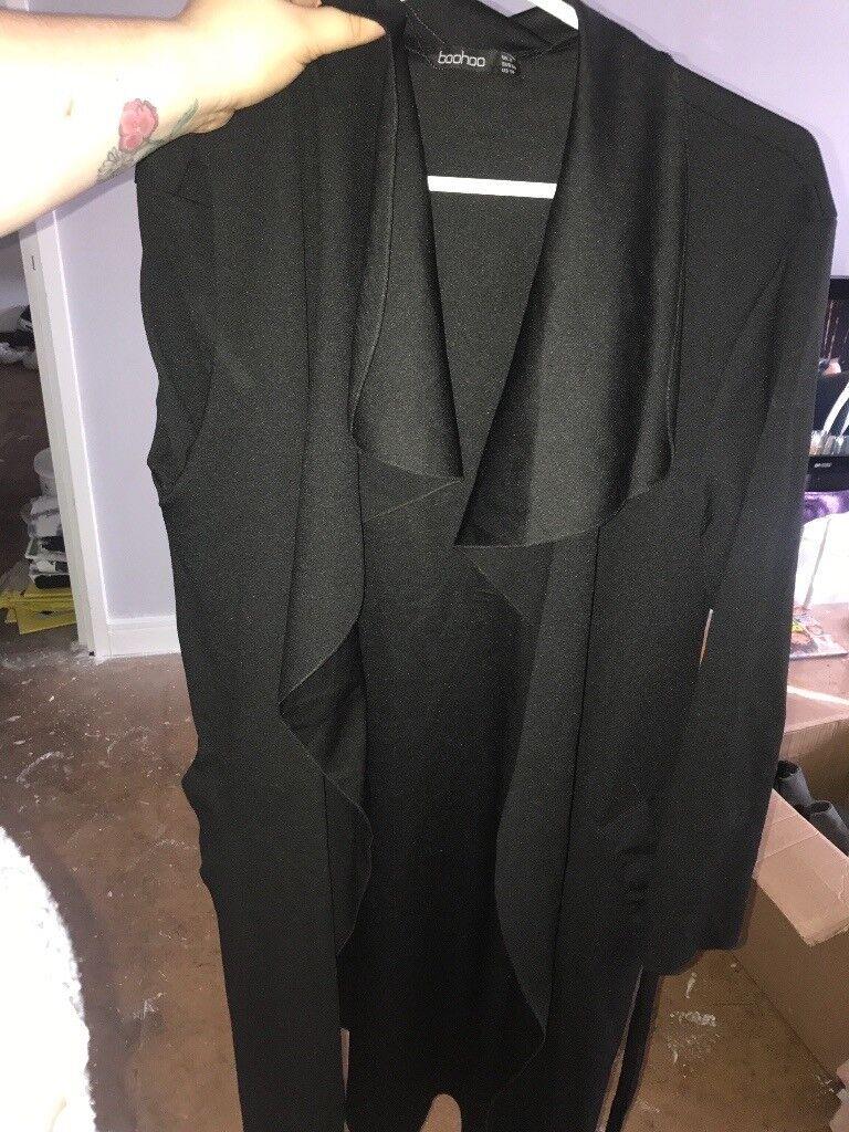 Waterfall black jacket/coat