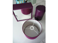 Mirrored Bathroom Cabinet with matching accessories Purple Plum