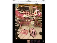 """Child's cupcake bike 12"""" brand new/never used. Lots of accessories with it."""