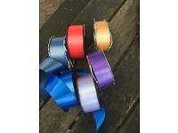 Various rolls of ribbon