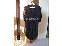 Ted Baker Black Dress UK Size 12 (Ted Baker Size 3)