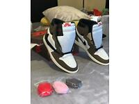Nike Air Jordan 1 High OG x Travis Scott Cactus Jack UK size 8 *DEADSTOCK*