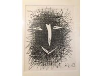 Pablo Picasso Satyr 1, 1964 Original Lithograph Printed By Mourlot, Framed