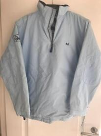 Crew light blue overhead coat. Size 16