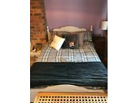 Double bed white re-worked open to offers