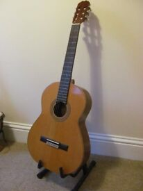 Admira Sevilla classical guitar solid cedar top sapelli side and back mahogony neck. Made in Spain.