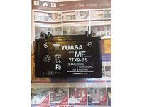 GENUINE YUASA YTX9-BS MOTORCYCLE BATTERY 8Ah 12V ACID GEL
