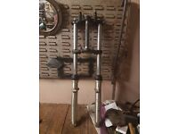 suzuki gt 250 x7 forks and yokes complete
